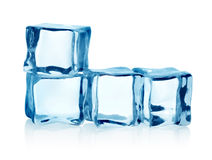 Cubos de gelo do grupo   foto de stock