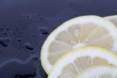 Cubos de gelo e fatias do limão Imagem de Stock Royalty Free