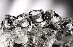 Cubos de gelo empilhados Imagens de Stock Royalty Free