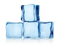 Cubos de gelo grandes do grupo fotografia de stock