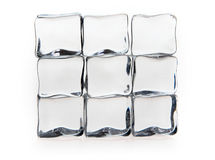 Cubos de gelo no branco Imagens de Stock Royalty Free