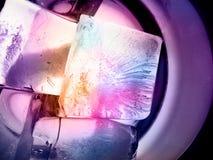 Cubos de gelo - o disco iluminou Imagem de Stock Royalty Free
