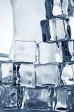 Cubos de gelo transparentes congelados Imagens de Stock Royalty Free