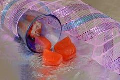 Cubos de gelo vermelhos Imagens de Stock