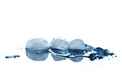 Cubos de hielo imagen de archivo