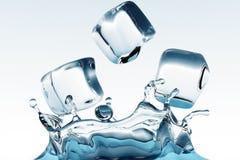 Cubos de hielo Fotografía de archivo libre de regalías