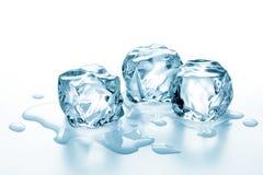 Cubos de hielo fotografía de archivo