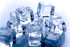 Cubos de hielo Imagen de archivo libre de regalías