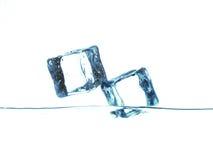 Cubos de hielo Fotos de archivo