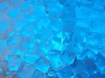 Cubos de hielo azules Fotografía de archivo