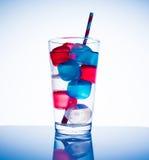 Cubos de hielo coloreados Fotos de archivo libres de regalías