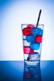Cubos de hielo coloreados Fotos de archivo