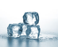 Cubos de hielo de fusión Fotografía de archivo