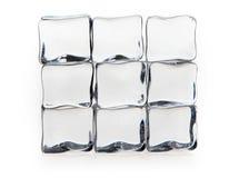 Cubos de hielo en blanco Imágenes de archivo libres de regalías