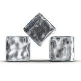 Cubos de hielo en el fondo blanco Fotografía de archivo libre de regalías
