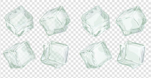 Cubos de hielo fijados stock de ilustración
