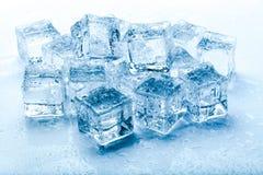 Cubos de hielo frescos Foto de archivo