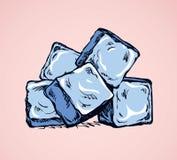 Cubos de hielo de fusión Gráfico del vector stock de ilustración