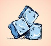 Cubos de hielo de fusión Gráfico del vector ilustración del vector