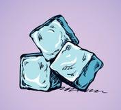 Cubos de hielo de fusión Gráfico del vector libre illustration