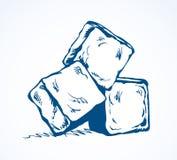 Cubos de hielo de fusi?n Gr?fico del vector libre illustration