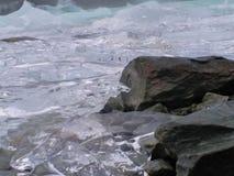 Cubos de hielo grotescos fotografía de archivo libre de regalías