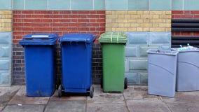 Cubos de la basura Fotografía de archivo