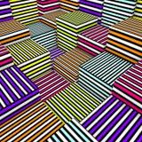 cubos de la composición 3d en la línea coloreada textura del aerosol Imagenes de archivo