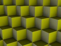 Cubos de la ilusión óptica Imagen de archivo libre de regalías