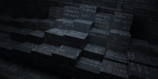 Cubos de la matemáticas Fotografía de archivo