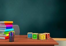 cubos de la matemáticas 3d Foto de archivo libre de regalías