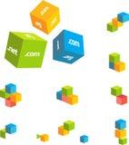 Cubos de los pares 3d Imagen de archivo libre de regalías