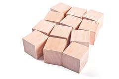 Cubos de madeira Fotos de Stock Royalty Free