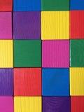 Cubos de madeira coloridos Foto de Stock Royalty Free