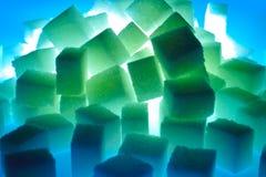Cubos de neón Imagen de archivo libre de regalías