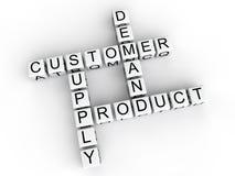 Cubos de oferta y demanda del producto del cliente Imagen de archivo libre de regalías