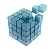 Cubos de vidro Imagem de Stock