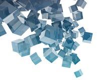 Cubos de vidro Fotos de Stock