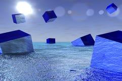 Cubos de vidro ilustração do vetor
