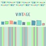 Cubos decorativos do grunge do quadro Ilustração do vetor Imagens de Stock