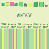 Cubos decorativos do grunge do quadro Ilustração do vetor Fotografia de Stock Royalty Free