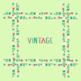 Cubos decorativos do grunge do quadro Ilustração do vetor Imagens de Stock Royalty Free