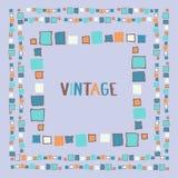 Cubos decorativos do grunge do quadro Ilustração do vetor Imagem de Stock