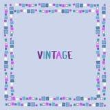 Cubos decorativos do grunge do quadro Ilustração do vetor Imagem de Stock Royalty Free