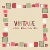Cubos decorativos do grunge do quadro Ilustração do vetor Foto de Stock Royalty Free