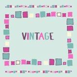 Cubos decorativos do grunge do quadro Ilustração do vetor Fotografia de Stock