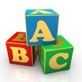 Cubos del ABC Imágenes de archivo libres de regalías