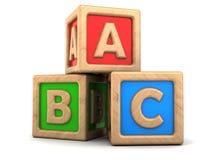 Cubos del ABC Imagen de archivo libre de regalías