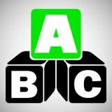 Cubos del alfabeto con A, B, letras de C libre illustration