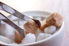Cubos del azúcar Fotografía de archivo